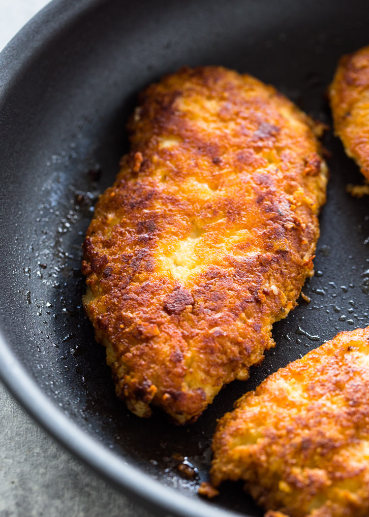 Crispy Parmesan Crusted Chicken Breasts Low Carb Keto Gimme Delicious