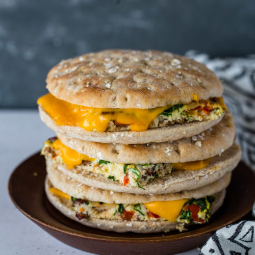Make-Ahead Egg & Cheese Breakfast Sandwiches (with Keto