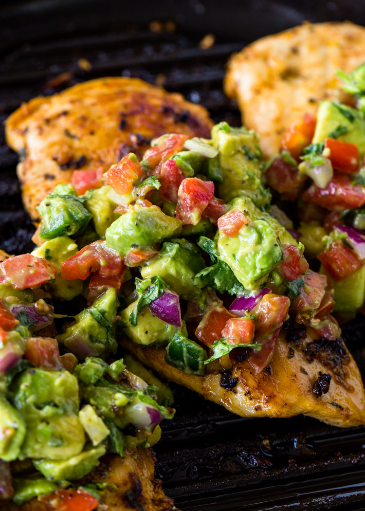 Grilled Chicken with Avocado Salsa