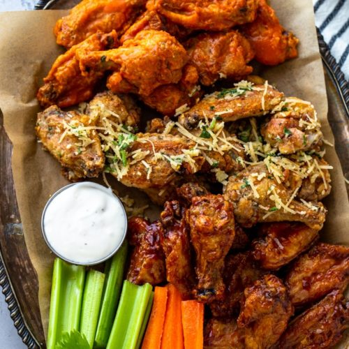 Super Crispy Air Fryer Chicken Wings 3 Ways