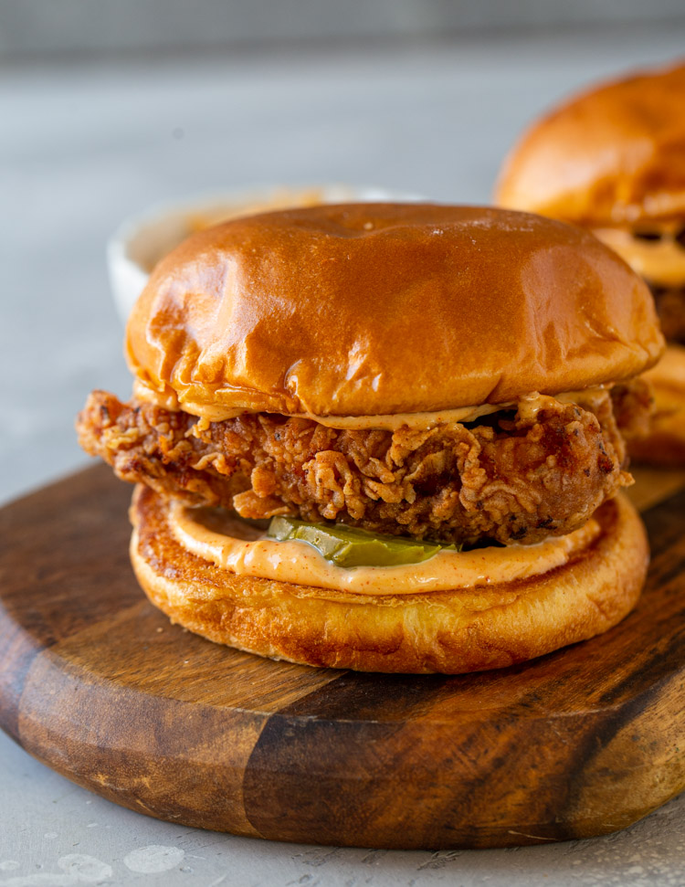 DIY Popeyes Buttermilk Fried Chicken Sandwich