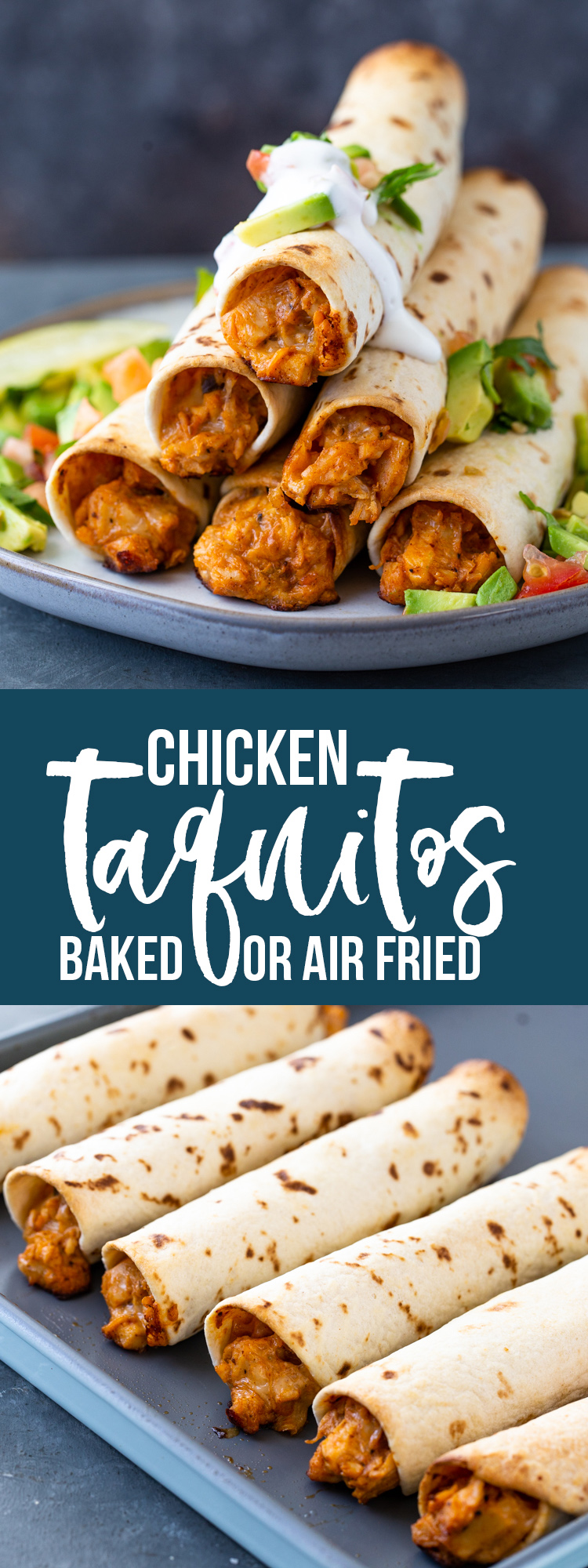 Chicken Taquitos (Baked or Air-Fryer)