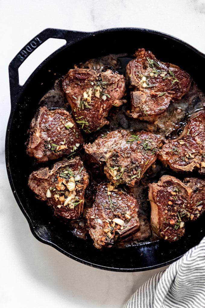 lamb chop recipe pan seared Pan Seared Lamb Chops