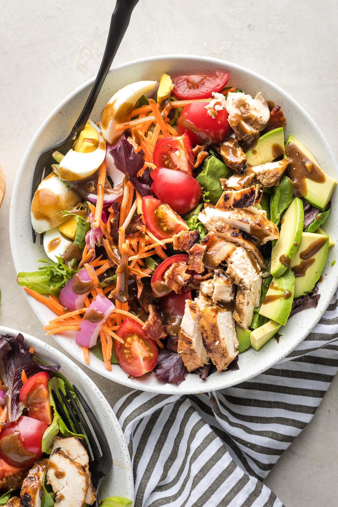Balsamic Grilled Chicken Cobb Salad