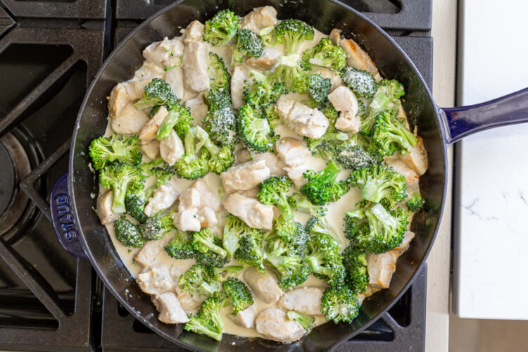 chicken, broccoli and creamy sauce
